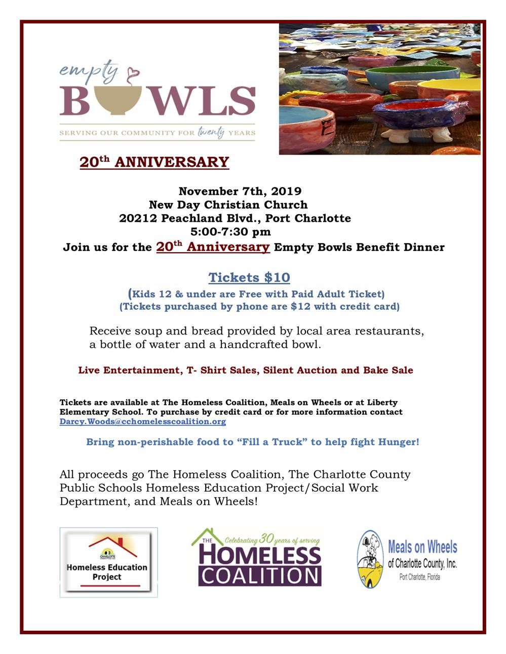 Empty Bowls Event Flyer