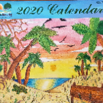 2020 Calendar Cover- sunset and palm trees