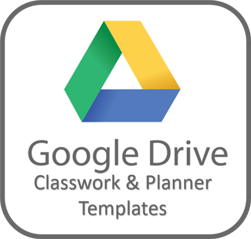 Google Drive Folder Access Link for Classwork and Planner Templates for the school year
