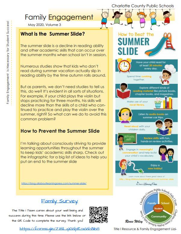 Family Engagement Newsletter May 2020 Vol 3