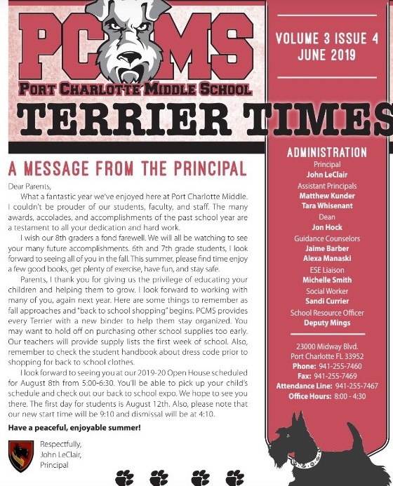 Terrier Times - Newest Issue!