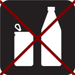 no bottles or cans