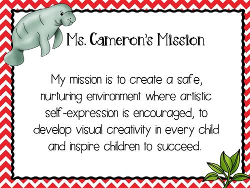 Ms. Cameron's Mission Statement