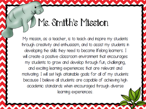Ms. Smith's Mission Statement