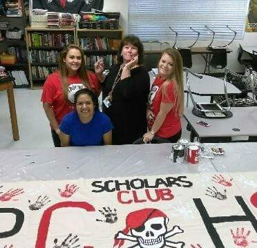 Mrs Buye and Scholars Club