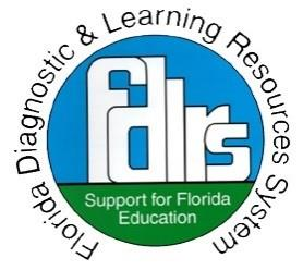 FDLRS Logo: Florida Diagnostic & Learning Resources System