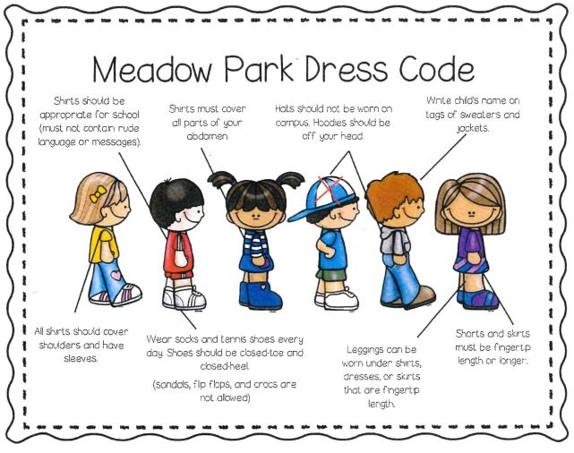 Picture of children with dress code.