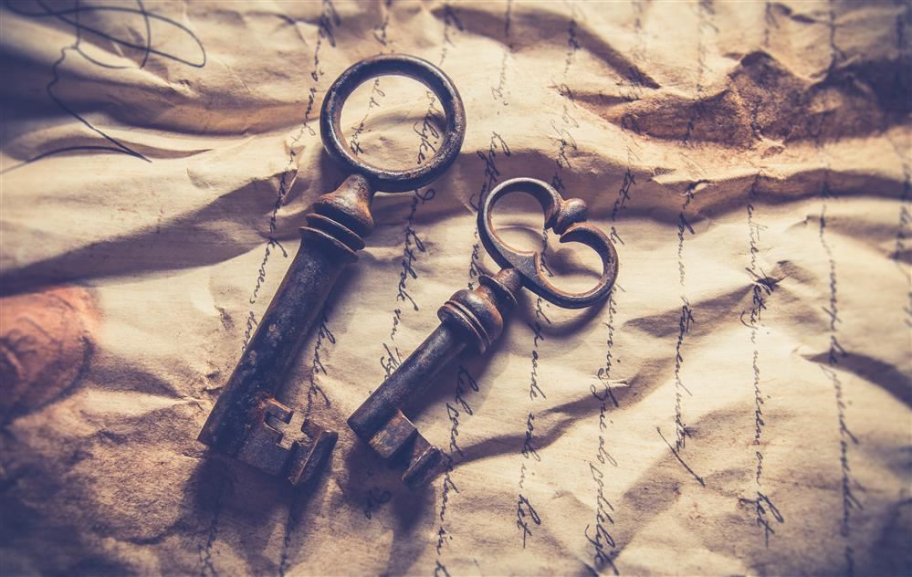 Antique Paper and Keys