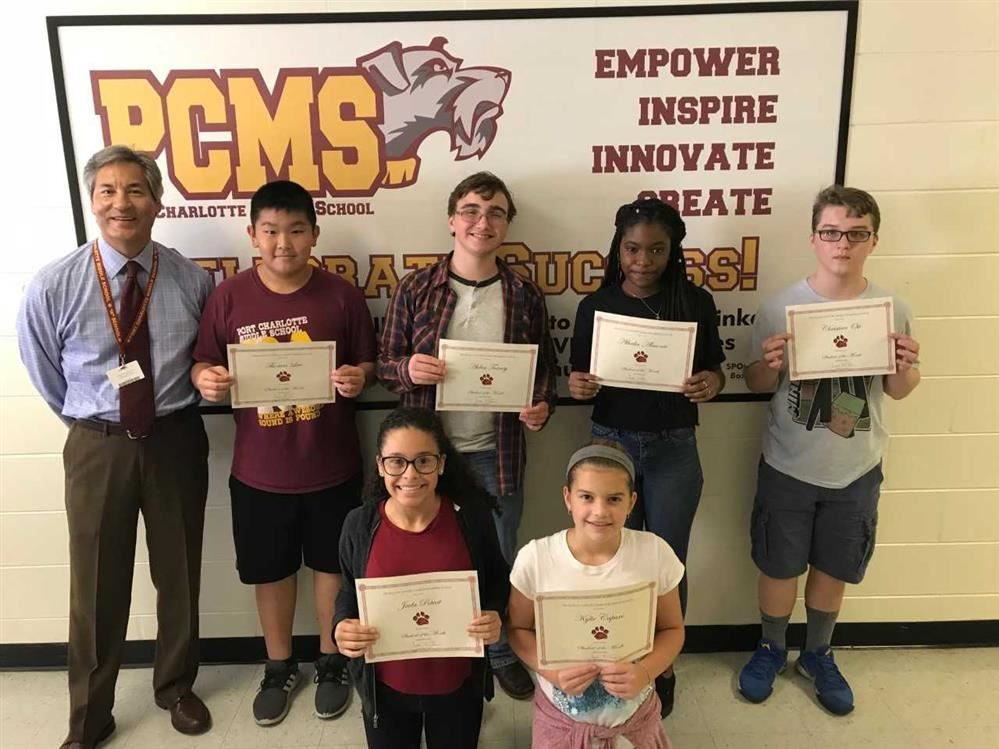 Outstanding Students for September 2018