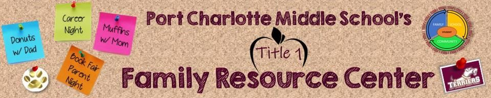 Header for Port Charlotte Middle Schools Title 1 Family Resource Webpage