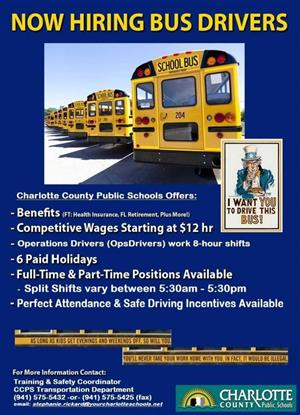 CCPS is now hiring bus drivers!