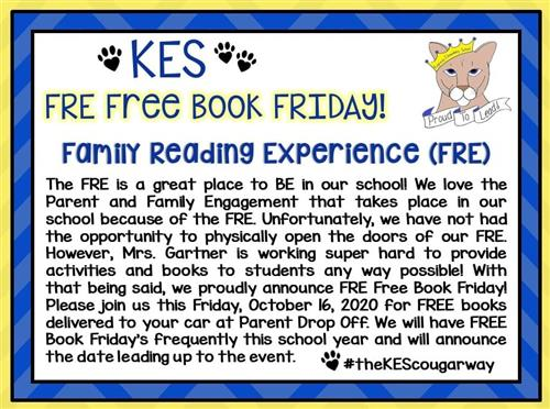 10/16/20 is FRE Free Book Friday! We'll see you in the morning (8:00-8:40AM).