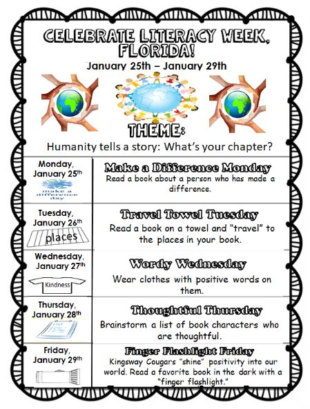 Literacy Week is January 27th-January 31st